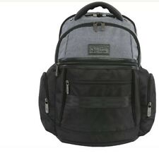 Original Penguin Luggage Classic 6 Pocket Laptop/ Business Backpack -Black/gray