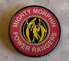 Vintage 1993 MIGHTY MORPHIN POWER RANGERS PINK RANGER Badge Clip Plastic 2.25?