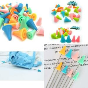 30 Pcs Colorful Knit Knitting Needles Point Protectors 2 Sizes Needle Tip Stoppe