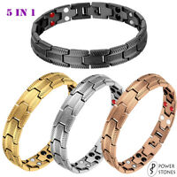 POWER STONES MENS SUPER STRONG MAGNETIC THERAPY BRACELET BIO 5 IN 1 ARTHRITIS 39