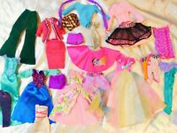 Large Lot of Barbie and Other Mixed Fashion Doll Clothes Bag S-6