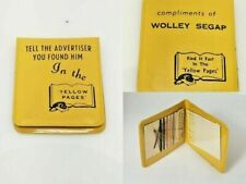 Vintage Yellow Pages Advertising Promo Sewing Mending Nylons Kit Wolley Segap