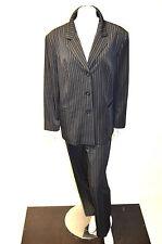 Einreihige Damen-Anzüge & -Kombinationen aus Polyester mit Jacket/Blazer und Nadelstreifen
