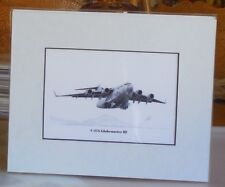 C-17A McGuire AFB 8X10 matted Open End Edition Print by Artist Willie Jones Jr