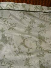 Croscill Green White Leaves Ivy & Ferns Crinkle Fabric Shower Curtain 72 x 75