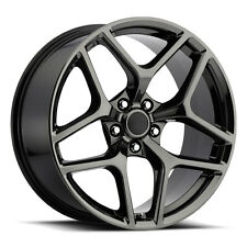 4) 20x9 20x10 Stagged Black Chrome Z28 Style Fits 2010-up Camaro Wheels Rims Set