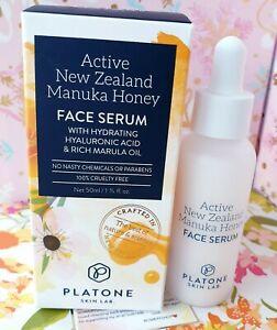 Platone New Zealand Manuka Honey Face Serum Hyaluronic Marula Oil 50 ml /1.33 oz