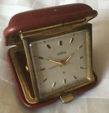 More details for angelus miniature folding travel alarm clock red case - pat 278153