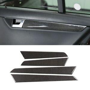 Passend für Mercedes Benz W204 Tür Griffe Blenden Carbon Rahmen Cover