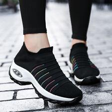 Женские скольжения на кроссовки удобные прогулочные туфли подушка рабочая обувь платформа