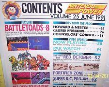 NINTENDO POWER MAGAZINE BATTLE TOADS   NES GAMEBOY VOL 25 JUNE 1991