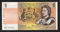 Australia R-71SF. (1966) $1 - Coombs/Wilson. STAR Note.. 1ST Prefix ZAA.. UNC