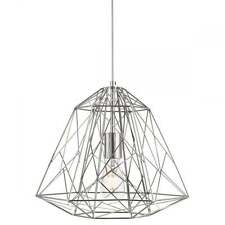 SEARCHLIGHT MODERN CAGE CEILING PENDANT LIGHT IN CHROME FINISH 7271CC