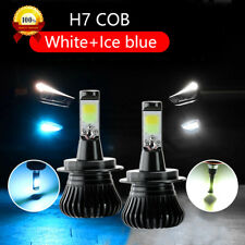 2X H7 LED Fog Lights Bulb Dual Color Switchback DRL Driving Lamp White Ice Blue