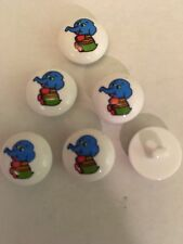BABY MATINEE  JACKET CLOTHING  Round Elephant 15 mm buttons