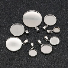 Stainless Steel Blank Cabochon Base Setting Charms Pendant jewelry making supply