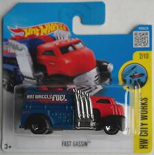 Hot Wheels - Fast Gassin rot/blau/schwarz Neu/OVP