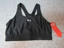 Under Armour Women's Mid Sports Bra Black/Black, Small NEW IN SEALED PACKAGE