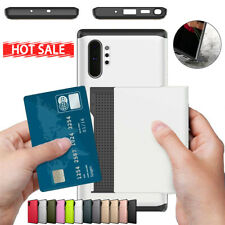 For Samsung Note20 Ultra Note10+ 9 Sliding Case Credit Card Holder ID Slot Cover