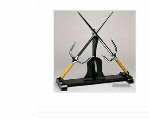 Nunchuck Escrima Kama Sai Karate Weapon Holder STAND Display