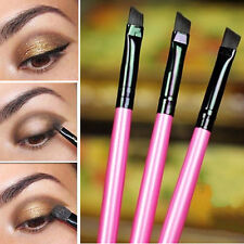 3Pcs Angled Tip Eyeliner Eye Shadow Eyebrow Brushes Cosmetic Makeup Tool Good