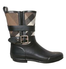 Auth BURBERRY Holloway Rain Boots (SIZE 36)