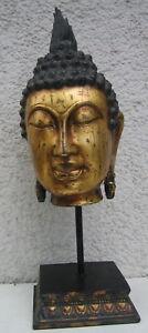 Buddha Kopf Deko Figur 42cm Buddhakopf Buddha Statue Feng Shui 42x13x13cm