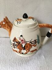 More details for fox hunting tea pot by paramount pottery