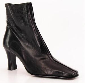 New ETIENNE AIGNER Women Leather Mid Calf Side-Zip High Heel Boot Shoe Sz 8 M