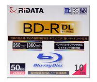 Ridata BD-R DL 50GB Inkjet Printable Blu-Ray Video Ridata Media Ritek Bluray