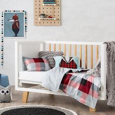 Adairs Kids Mr North Bedlinen Red Quilt Cover Set Cot