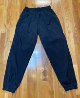 Vintage Nike Black Track Pants White Tag Black Swoosh Used Size Large Jogger