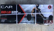 CAP 110LB Olympic Weight Set with Plates, Collars & Bar BRAND NEW FREE SHIPPING