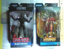 2 Marvel Legends Series Action Figures- Black Panther and Dora Milaje