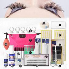 16 in 1 Make Up Eyelash Lashes Extension Curler Kit Glue Perm Bag Tool Set
