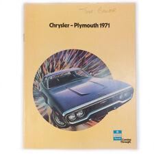 vintage Plymouth 1971 CHRYSLER Carrozze VEICOLO AUTOMOBILE ANNUNCIO