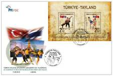 2018 Turkey 60. Thailand Diplomatic Relations Mini Sheeet Joint Issue FDC Mosque