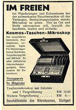 Geschäftsstelle des Mikrokosmos Stuttart Kosmos- Taschen- Mikroskop von 1929