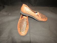 HABAND DUKE Mens Brown and Black Waffle Weave Loafers - Size 10 NEW