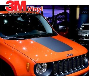 Hood stripe Fits: 2015-2019 JEEP RENEGADE TRAILHAWK VINYL Decal GRAPHIC 3M
