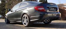 MERCEDES BENZ C-KLASSE W204 Sportauspuff Duplex + Diffusor AMG C63 Exhaust TOP
