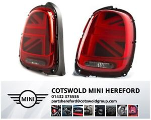 Genuine MINI F55 F56 F57 PAIR Union Jack UK LED Tail Lights 63217435133 / 4