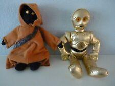 Star Wars Buddies 1997 Kenner Plush C-3PO & Jawa Bean Bag