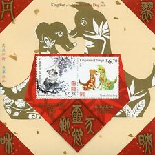 Tonga 2018 MNH Year of Dog 2v M/S Dogs Chinese Lunar New Year Stamps
