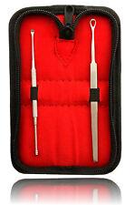 Limpiador de Oídos Juego 2 Acero Inoxidable Para eliminación ohrensekret