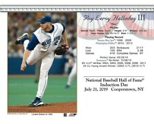 ROY HALLADAY TORONTO BLUE JAYS 8X10 2019 HALL OF FAME INDUCTION DAY CARD