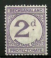 Album Treasures Bechuanaland Prot Scott # J3  2p Postage Due Overprint MH