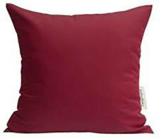 """PACK OF 4 FILLED CUSHIONS 100% Cotton ZARAH HOME Durable Red Cushions 18"""" /45 cm"""