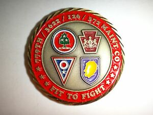 Joint 779th, 3622nd, 126th Et 372nd Maintenance Companies 2-Side Challenge Pièce