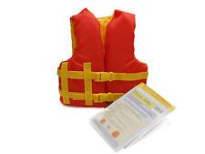 Child Life Jacket Boat Swimming Swim Vest Pfd Orange Yellow